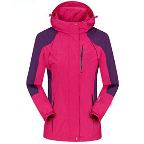 Cappotto Sottile All'aperto Di Giacche Sezione Medio Donna Alpinista Impermeabile Wu Dimensioni Grandi Autunno skin Invecchiato Single Rosered Lai v4wE46xq8