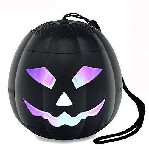 Hezovpr Portable Speaker Wireless Bluetooth Speakers Pumpkin LED Lights Ghosts Sound as, Birthday Gifts Kids Men Women. -