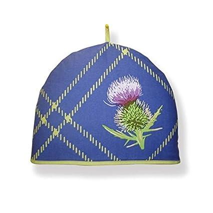 Amazon.com: D&C Supplies Thistle Blue Design Cotton Tea Cosy: Home ...