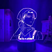 Levi Ackerman Acryl 3d Lamp Aanval op Titan voor Thuis Kamer Decor Licht Kind Gift Levi Ackerman LED Nachtlampje Anime