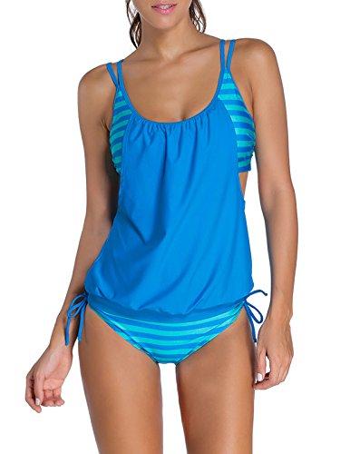 Da Fionda Bozevon A3 Donna Stile Casuale Bikini 2pcs Due Pezzi Bagno Tankini Moda Abito Beachwear Costumi q4rqYf1