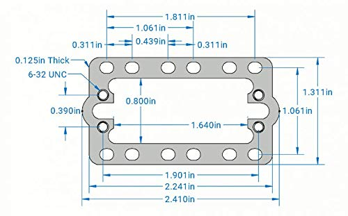 OSEPP - Standard Servo Plate A, Compatible to ServoCity # 575112 (LS-00075)