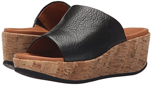 Gentle Souls Women's Megan Platform Sandal, Black, 7.5 M US