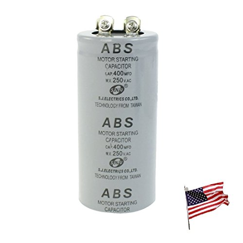 US Metallized Polypropylene Film 400uF AC 250V Motor Starting Capacitor 400MFD