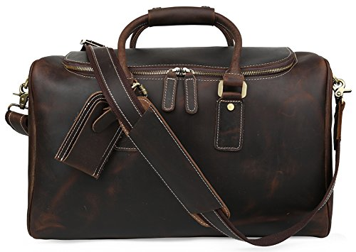 Polare Real Leather Vintage Travel Luggage Duffle Bag /Gym Bag/ Overnight bag by Polare (Image #8)