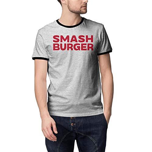 Smashburger New Logo Short Sleeve T Shirts Men's Loose Cool Skin-Friendly T-Shirt Grey