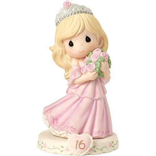 Grace Porcelain (Precious Moments 162015  Growing In Grace, Age 16, Bisque Porcelain Figurine, Blonde Girl)