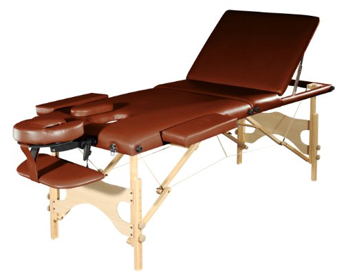 Sivan-HEALTH-FITNESS-Three-Fold-Reiki-Portable-Massage-Table-and-Carrying-Case-Chocolate