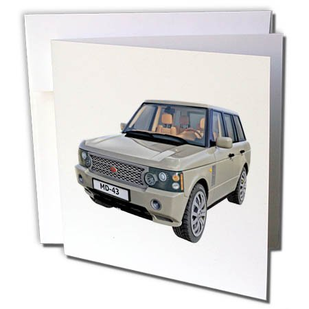 s Car - an Olive Drab European Ranger Car - 12 Greeting Cards with Envelopes (gc_282286_2) ()