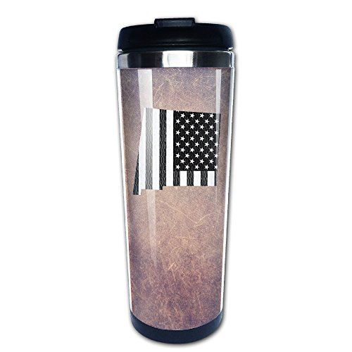 New Mexico Map USA Flag 304+ABS Stainless Steel Travel Tumbler Coffee Mug (400ml)