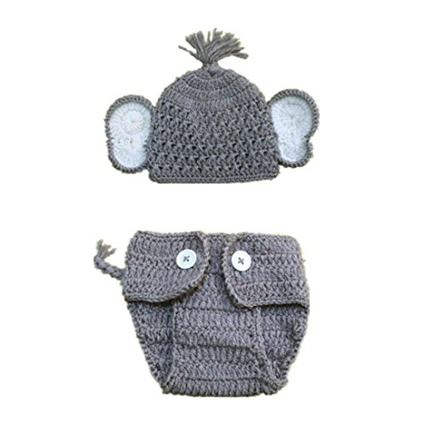 WuyiMC Clearance 2pcs Newborn Cute Stretchy Knit Photo