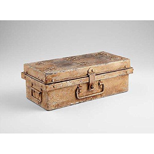 Zinc Decor Rustic Metal Jewelry Box Keepsake Storage Letter Chest