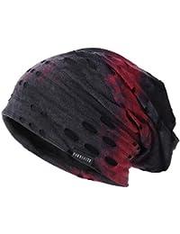 Mens Slouchy Beanie Skull Cap Summer Thin Baggy Oversized Knit Hat B301