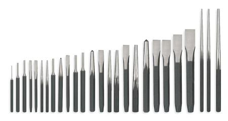 Westward 2AJL8 Punch And Chisel Set, 26 Pc