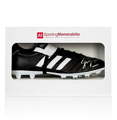 John Barnes Signed Football Boot Adidas Gloro - Gift Box Autograph Cleat -  Autographed Soccer Cleats d6ae3d8df60