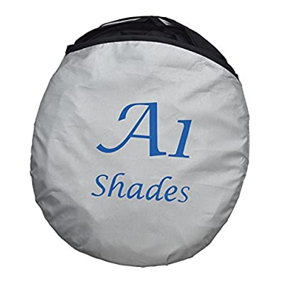 Windshield Sun Shade - 210T Fabric Highest in The Market for Maximum UV and Sun Protection -Foldable Sunshade for car Windshield Will Keep Your car Cooler- Windshield Sunshade: Automotive