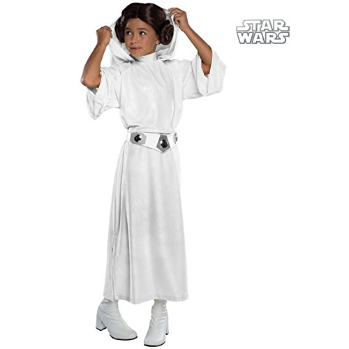 Girls Deluxe Princess Leia Costume -
