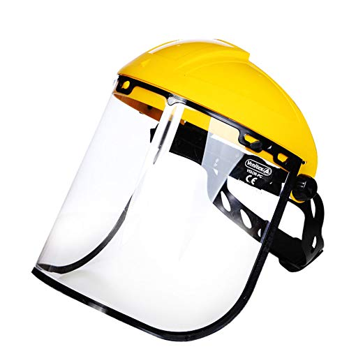 Safety Protection Mask, Full Face Helmet Mask Transparent Dust Cover Splash-Proof Dust-Proof Goggles Multi-Function Protective Cap Personal Protective Equipment,10PCS