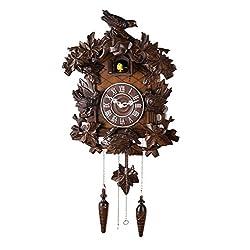 14-inch Classic Forest Birds Cuckoo Clock, Home Decor, Specialty Quality, Quartz Timepieces - C00128