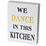 """great traditional home office decorating ideas  We Dance in This Kitchen Decor Box Sign Vintage Primitive Country Wall Art Sign with Sayings 8"""" x 6"""""""