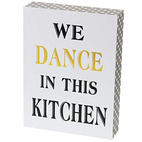 Barnyard Designs We Dance in This Kitchen Decor Box Sign Vintage Primitive Country Wall Art Sign with Sayings 8