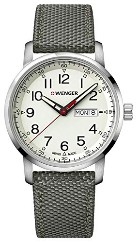 (Wenger Men's Sport Stainless Steel Swiss-Quartz Watch with Nylon Strap, Grey, 22 (Model: 01.1541.106))