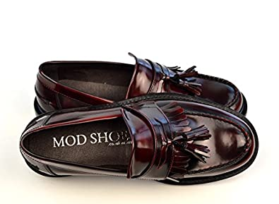 2f3dc6acca9d5 The Prince - Oxblood Tassel Loafers Mod Ska Shoes (Euro 40
