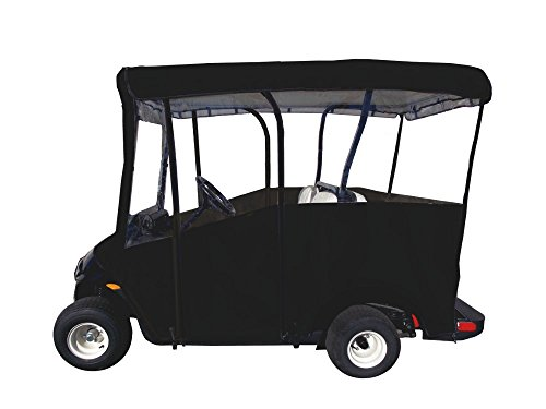 Ez Go Golf Cart Enclosures - Golf Cart Cover - Premium Extended Roof Drivable 4-Sided Cart Cover w/ 80