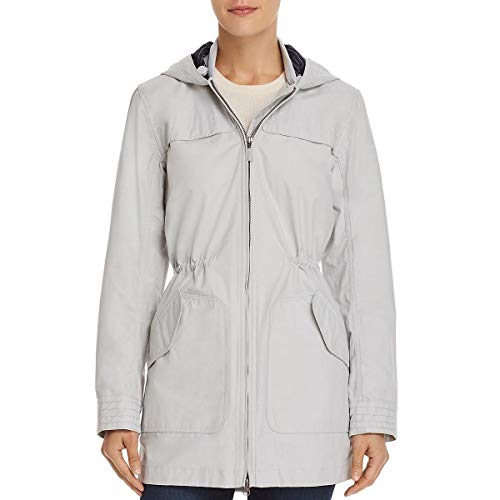 Barbour Womens Marloes Hooded Lightweight Coat Gray 4