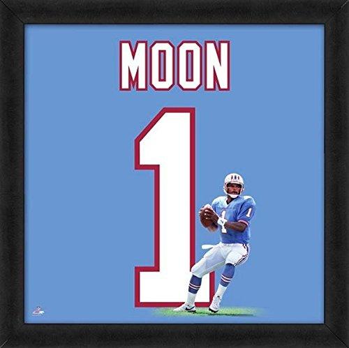 Warren Moon Framed Photo - Warren Moon Oilers Jersey Uniform 20 x 20 Framed Photo NFL Memorabilia
