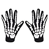 Skeleton Gloves Cosplay Mummy Ghost Reaper Halloween Costume Cosplay Accessories Full Finger Unisex