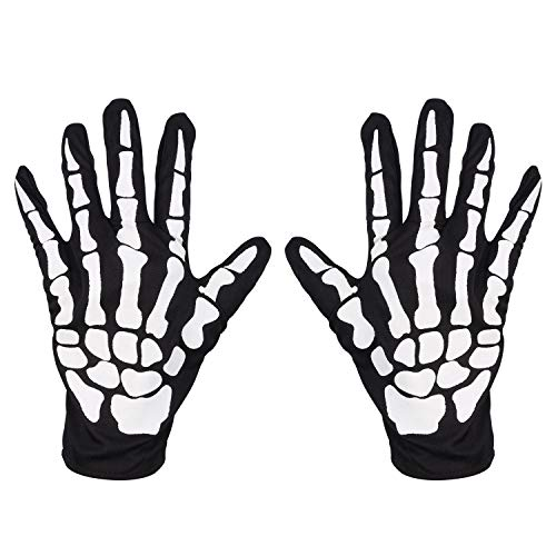 LEADTEAM Skeleton Gloves Cosplay Mummy Ghost Reaper Halloween Costume Cosplay Accessories Full Finger - Unisex Mummy