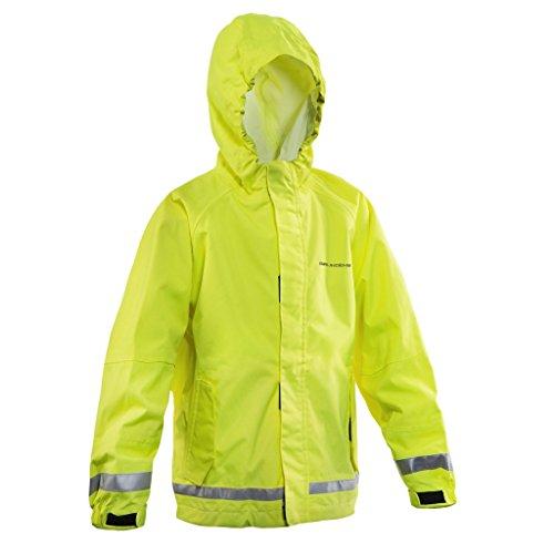 Fish Cuff Watch (Grundens KWWJHV Weather Watch Juniors Hooded Jacket, Hi-Vis Yellow, 4)