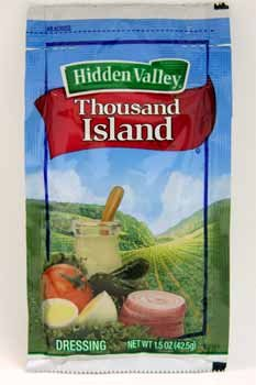 000 Seed Pack - Hidden Valley Thousand Island Portion Pack Dressing - 84 Case 1.5 Ounce