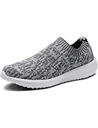 Women's Lightweight Slip On Athletic Sneakers Breathable Mesh Walking Shoes