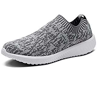 LANCROP Men's Sock Walking Shoes - Comfortable Slip on Easy Office Sneakers