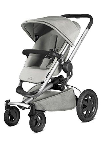 Quinny Buzz Xtra Kombi-Kinderwagen und Sportbuggy, ab der Geburt nutzbar mit Maxi-Cosi Babyschale, automatische sekundenschnelle Aufklappfunktion und robuste Reifen für jedes Gelände, grey gravel