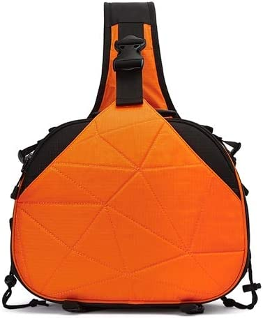 Size: 332417cm Black Color : Orange WEIHONG WEIHONG Bag Triangle Shape Tscope Sling Shoulder Cross Digital Camera Bags Case Soft Bag with Rain Cover for Canon Nikon for Sony