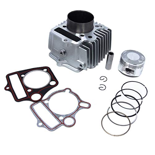 54mm Big Bore Kit Change 110cc to 125cc Cylinder Piston Ring Gasket Set for Dirt Bike ATV Honda C100 C110 CT100 JH110 DY110 QJ110-9 ZS110 ()