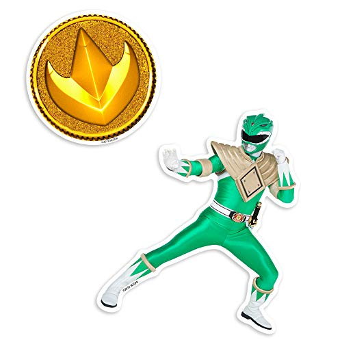 Popfunk Power Rangers Green Ranger and Coin Collectible Stickers