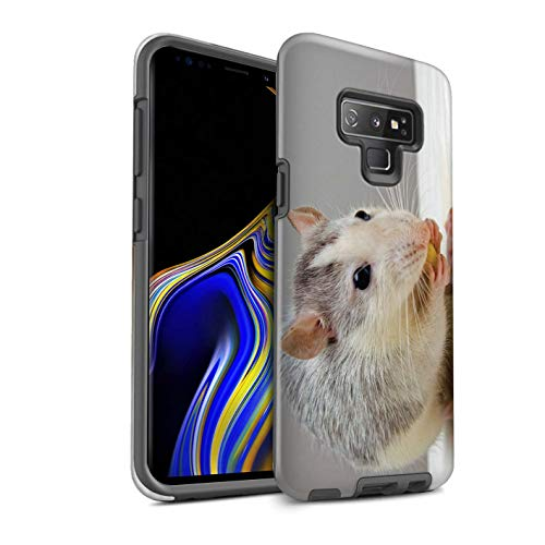 eSwish Gloss Tough Shock Proof Phone Case for Samsung Galaxy Note 9/N960 / Fancy Rat Design/Cute Pet Animals Collection