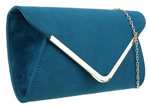 Chica Diseño Verde Girly Azulado Bolsa Sobre Handbags Mano Con De Bxn616TqpO