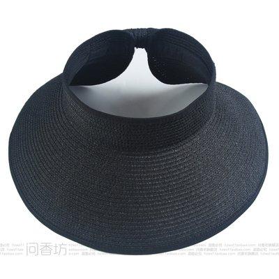 À l'été, chapeaux de plage sports loisirs plein air chapeau pliable mode chapeau de soleil, adulte, noir