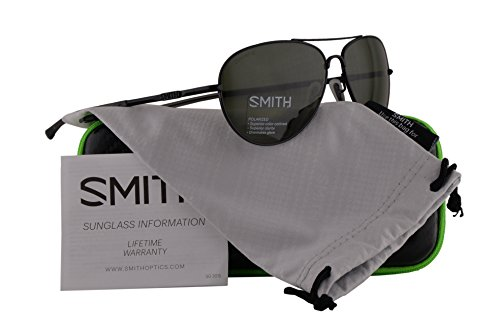 Smith Authentic Sunglasses Audible Matte Black w/ChromaPop Polarized Grey Green Lens 3Z (60mm) Audible/S by Smith Optics