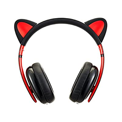Censi Wired Cat Ear Headphones - Over Ear Wired Noise Canceling Headphones for Smartphone, PC