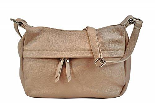 Bozana Bag Lia rosa Italy Designer Damen Handtasche Ledertasche Schultertasche Tasche Leder Shopper Neu