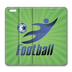 Armener Leather Protective Skin Case Cover For iPhone 6 Plus (5.5 inch) With Playing Football wangjiang maoyi by lolosakes