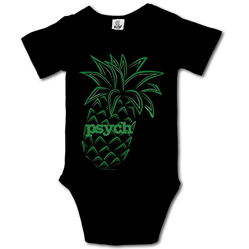 Msiiks Psych Pineapple Baby Boys Girls Cotton Comfortable Cutie Short Sleeve (Party City Costumes For Girls Age 11)