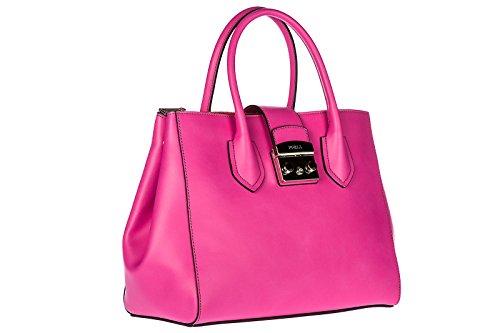 Handtasche Damen Bag Tasche Leder Furla fuxia metropolis w1qSCT6