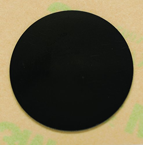6 Black On-Metal NFC Tag Stickers 25mm (1 inch) Round - 888 Bytes NTAG216, Compatible with all NFC-capable phones (Black)